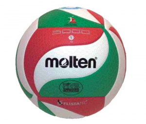 FONDU Ballon Volleyball Flistatec Blanc Rouge - Ballon Volleyball