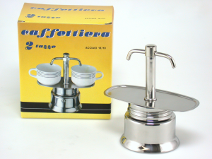PIAZZA Coffee maker Steel Inox Express 2 Beaks Cups 2 Moke And Gaskets