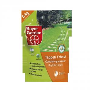 BAYER Concime granulare bayfolan multi per tappeti erbosi kg. 5