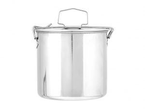 ASTESANI Food box Round Steel Stainless steel 14 cm Container Kitchen