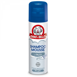 Sano E Bello Shampoo Mousse Dry For Cats Ml.200 - Cats Hygiene