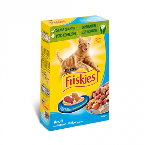 Friskies Adult With Salmon And Vegetables Added Dry Cat 400 Gr Cat Dry Food