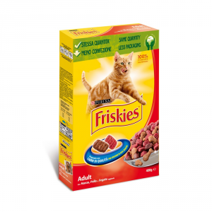 Friskies Adult With Beef Liver And Chicken Dry Cat 400 Gr Cat Dry Food