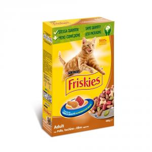 FRISKIES Adult con pollo anatra tacchino e verdure secco gatto gr. 400