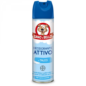 Sano E Bello Deodorant Active Dog Talc Ml.250 - Hygiene Toilette For Dogs