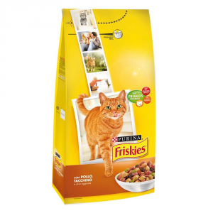 Friskies Adult With Chicken Turkey Duck And Vegetables Dry Cat 2 Kg.