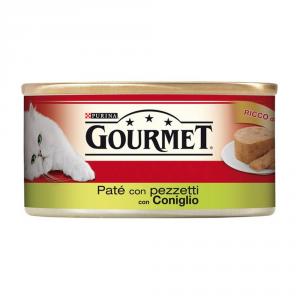 Set  24 PURINA Rosso Lattina 195 Gr. Pat├× Con Coniglio A Pezzetti Umido Gatto