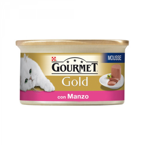 PURINA Gold Mousse Con Manzo Prelibato Umido Gatto Gr. 85