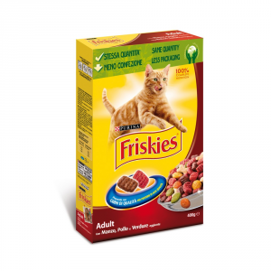 Friskies Adult Beef Liver Vegetables And Carrots Cat Dry Gr 400 Cat Dry Food