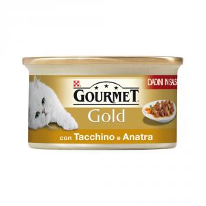 PURINA Gold Dadini Con Tacchino E Anatra In Salsa Umido Gatto Gr. 85