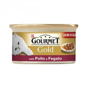 PURINA Gold Dadini Con Pollo E Fegato In Salsa Umido Gatto Gr. 85