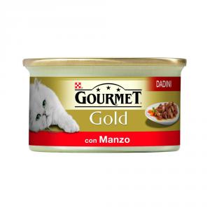 PURINA Cubes Gold Avec Du Boeuf En Gr De Chat Mouillé De Sauce. 85