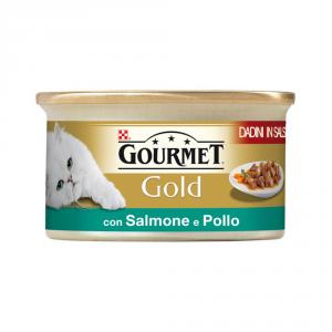 PURINA Gold Dadini Con Salmone E Pollo In Salsa Umido Gatto Gr. 85