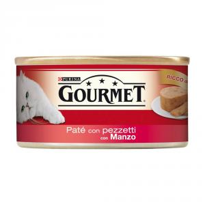 PURINA Rosso Lattina 195 Gr. Patè Con Manzo In Pezzetti Umido Gatto