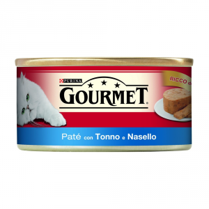 Purina Red Tin 195 Gr. Patè With Tuna And Wet Hake Cat