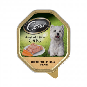 Cesar Pate With Chicken And Carrots Stewed Dog Gr 150 - Dog Wet Feed