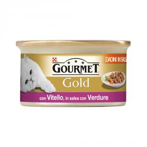 PURINA Gold Dadini Con Vitello E Verdure In Salsa Umido Gatto Gr. 85