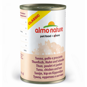 Almo Nature Classic Tuna And Ham Moist Cat 140 Gr Cats Wet Feed