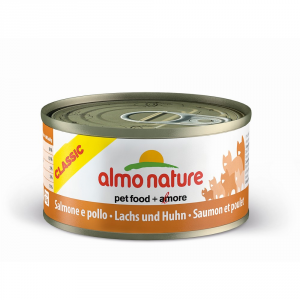 Almo Nature Classic Salmon And Moist Chicken Cat Gr 70 - Cats Wet Feed