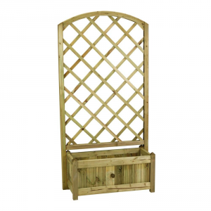 Twig Positive Grid Rosita With Planter Cm. 88 X 36 X 172 Garden And Outside