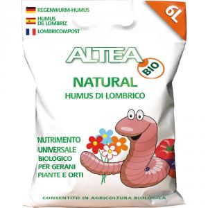 ALTEA Humus di lombrico natural 3kg - Piante orto giardino concimi granulari