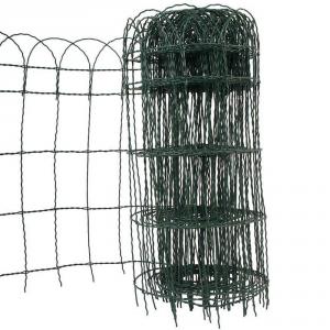 VERDEMAX Rete per aiuole decorativa in acciaio plastificato