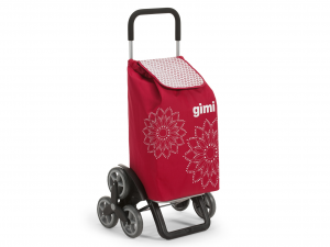 GIMI Cart Expenditure tris 3r Floral Red Spending Easy Accessory Purchases