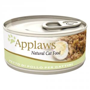 APPLAWS Cat Natural Food Lattina Umido Grammi 70 - Mangimi Umidi Per Gatti