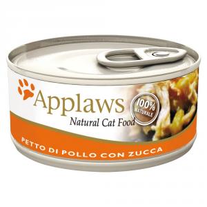 APPLAWS Cat Natural Food Lattina Con Pollo E Zucca Umido Gatto Grammi 70
