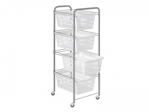 ARTEX Cart Siena 4 Baskets White And Container House
