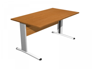 Desk Eco With Metal Sidewalls Cm 140x80x72h Furnishing Accessories