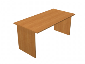 Desk Eco With Flanks Panels In Melamine Cm 80x80x72h