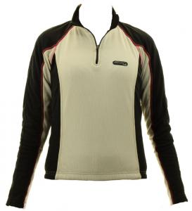 BRIKO Maglia ciclismo donna zip corta tessuto tecnico WING bianco nero 010057