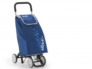 GIMI Cart Expenditure Twin 4 Wheels Blue Spending Easy Accessory Purchases