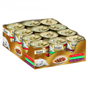 Purina Gold Tray Dadini In Salsa 3 Flavors Gr 85 X Pieces 24
