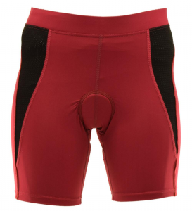 BRIKO Shorts ciclismo spinning donna NASHVILLE FITNESS rosso scuro 010336