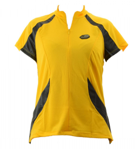 BRIKO T-shirt ciclismo spinning uomo mezza zip ZENITH giallo nero 010375--YA