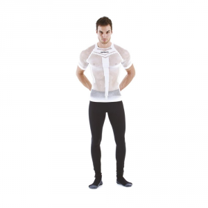 BRIKO T-shirt traforata unisex compressione muscolare traspirante bianco 010440