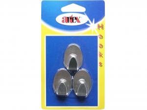 ARTEX Blist 3 ganci metall adesiva Ganci organizzazione della casa