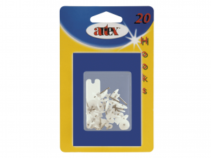 ARTEX Blist 20 Hooks With Nail Hooks Organization of the house