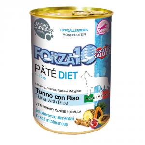 FORZA 10 Patè diet tonno e riso umido cane gr. 400 - Mangimi umidi per cani
