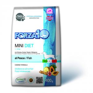 FORZA 10 Mini diet pesce secco cane gr. 400 - Mangimi secchi per cani crocchette