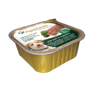APPLAWS Dog Patè In Vaschetta Con Manzo E Verdure Umido Cane Grammi 150
