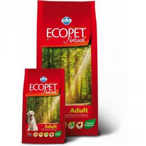 ECOPET NATURAL Adult con pollo secco cane kg. 12 - Mangimi secchi per cani