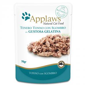 APPLAWS Cat Natural Food In Busta Gelatina Di Tonno E Sgombro Gatto Grammi 70