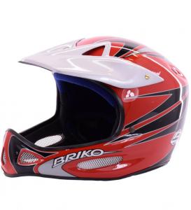 Briko Vintage Helmet Ski Descent Unisex X Contact Red Grey 013032 - Va