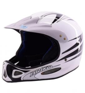VINTAGE Briko casque de ski descente unisexe X CONTACT 013 032 noir blanc-DA