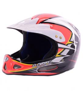 Briko Vintage Helmet Ski Descent Unisex X Contact Red White Black 013032 - W8