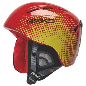 Junior casco Briko KODIAKINO esquí alpino amarillo 013222 rojo