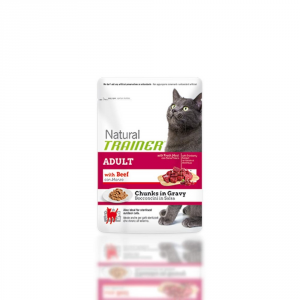 Trainer Natural Chunks In Sauce 85gr Beef - Cats Wet Feed